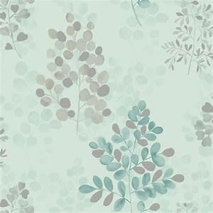 Arthouse Montana Floral Leaf Pattern Metallic Vinyl ...