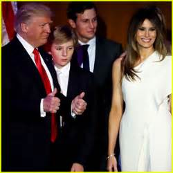 Donald's rarely seen mini-me Barron, 10...could barely ...