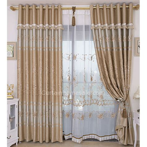 discount price cool curtains in coffee color with