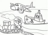 Transportation Coloring Cartoon Funny Pages Air Limo Pdf Popular sketch template