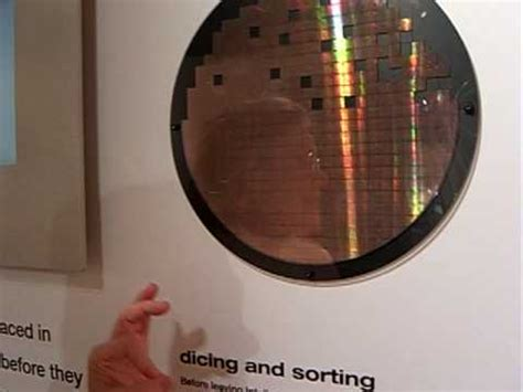 intel silicon   computer  dicing  wafer youtube