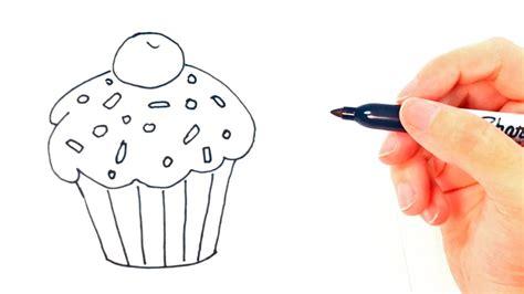 c 243 mo dibujar un cupcake paso a paso dibujo f 225 cil de cupcake