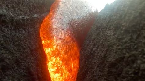 gopro  swallowed  lava  survived
