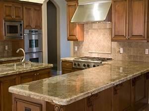 Plan De Travail Granit : plan de travail cuisine granit beige avec ~ Dailycaller-alerts.com Idées de Décoration