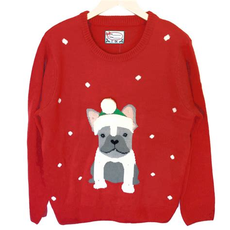 ugly light up christmas sweaters french bulldog light up tacky ugly christmas sweater the