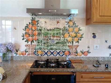 kitchen mural tiles painted kitchen tiles and tile murals 2329