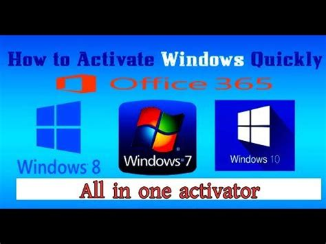 how to activate windows 10 8 8 1 7 office 356 2016 2015 all version activator