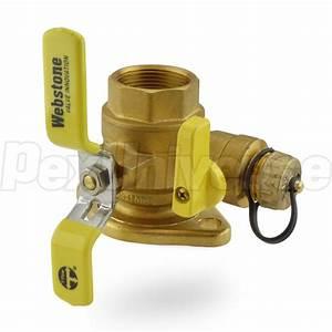 Webstone 41415  1 4 U0026quot  Fpt Isolator Flange Valve W   Drain