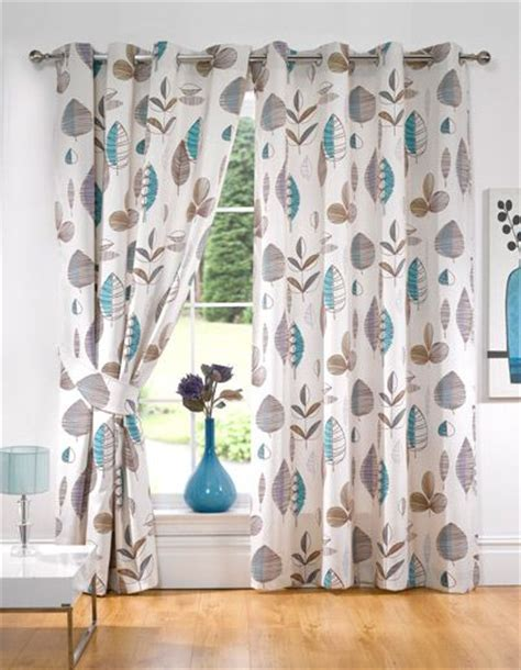 Floral Curtains Ready Made by Retro Floral Lined Ready Made Eyelet Curtains Home