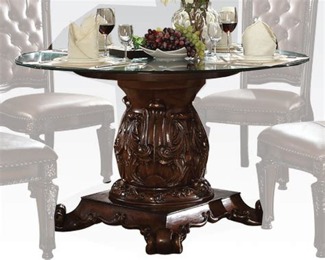 cherry dining table round glass dining table vendome cherry by acme furniture