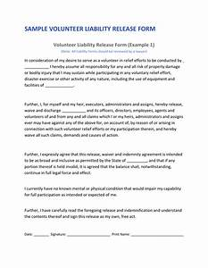 free liability release form download waiver of liability With volunteer waiver form template