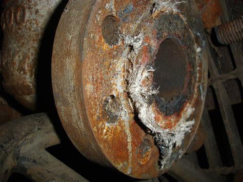 pipe flange asbestos gasket damage  overlooked