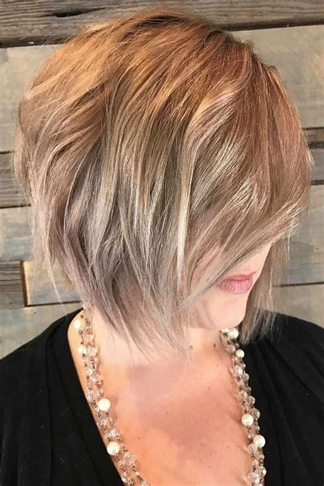 lob hairstyle   older women  younger short