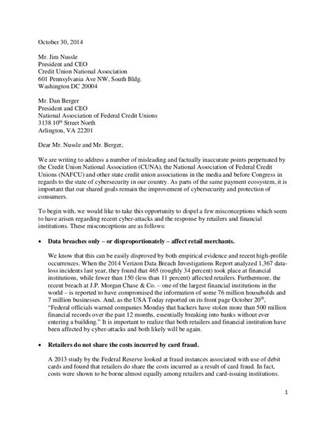 Credit unions respond to data breaches NCUA letter