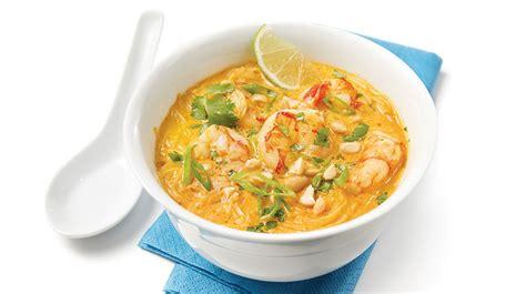 cuisine poisson soupe thaïe aux crevettes recettes iga