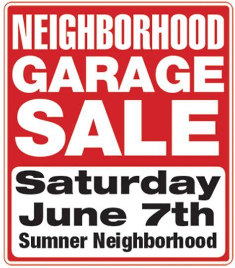 garage sale sumner association  neighbors san