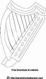 Harp Coloring Irish Pages Celtic Printable Instruments Adult Books Leehansen St Parenting Patrick Dance Instrument Musical Sheets Digital sketch template