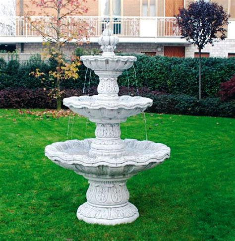italian outdoor fountains cast large marble statue