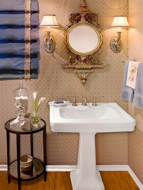 Half Bathroom Ideas With Pedestal Sink by Half Bathroom Or Powder Room Hgtv