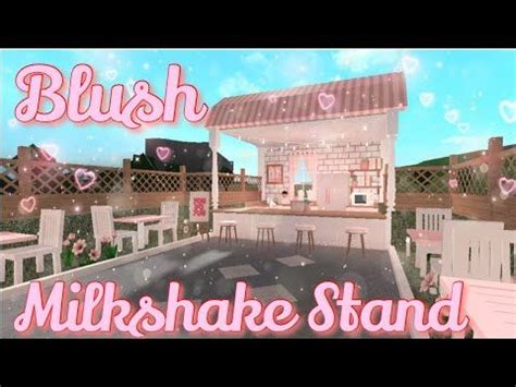 blush milkshake stand bloxburg speedbuild  lizzzy youtube   small house