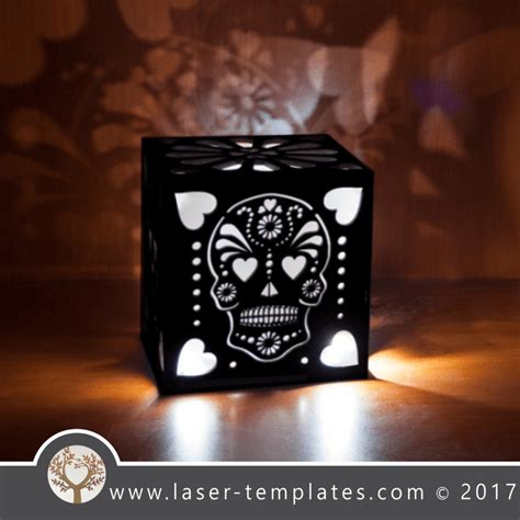 sugar skull light box template  vector design store