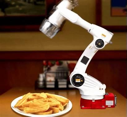 Salt Robot French Salty Fries Robots Arm
