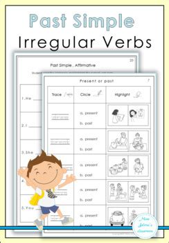 simple irregular verbs   jelenas classroom tpt