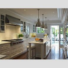 Long Kitchen  Transitional  Kitchen  Deborah Wecselman