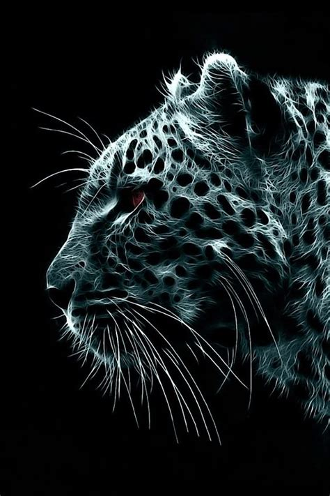 Jaguar Animal Iphone Wallpaper - jaguar big cat animal feline fractal iphone wallpaper