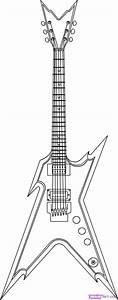 How to Draw a Electric Guitar, Step by Step, String ...