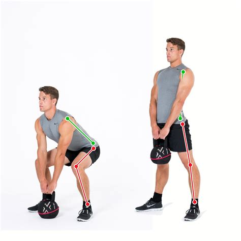 deadlift exercise kettlebell lower classic