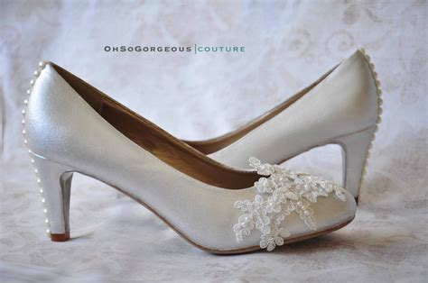 Lace Wedding Shoes Lace Bridal Shoes White Wedding Shoes Low