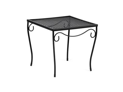 black wrought iron square patio side table modern patio