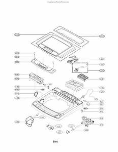 Parts For Lg Wt1101cw  Top Cover Parts