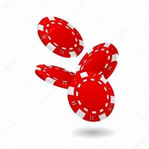 Falling Red Poker Chips — Stock Vector © pocike #10743905