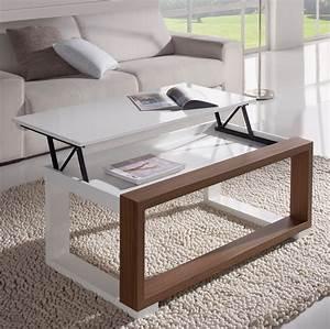 Table De Salon Originale : la table basse relevable r volutionne le salon d co et saveurs ~ Preciouscoupons.com Idées de Décoration