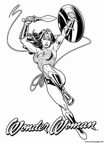 Coloring Woman Pages Adult Wonder Printable Heroes