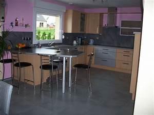 Cuisine Couleur Aubergine : quelle couleur pour les murs de ma cuisine ~ Premium-room.com Idées de Décoration