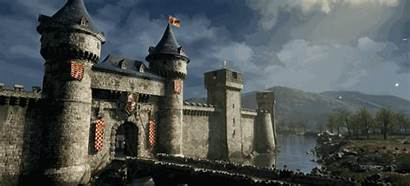 Castle Scene 3d River