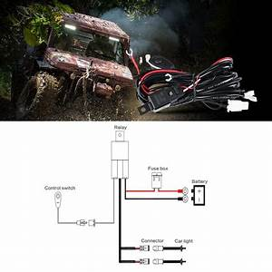 Led Hid Wiring Loom Harness Spot Work Driving Light Bar