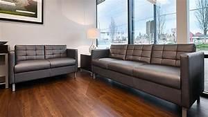 Everett sofa ivory leather stripes nailhead sofa thesofa for Sectional couches everett wa