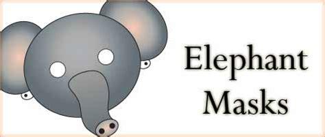 printable animal masks elephant mask woo jr kids