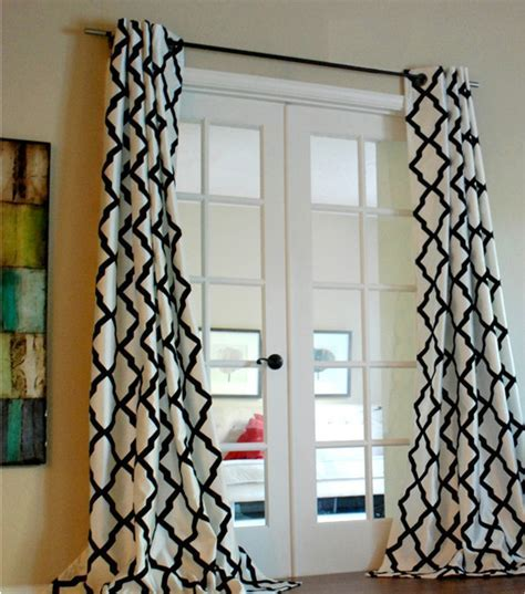 Trellis Bold Flocked Curtain Panel   Contemporary