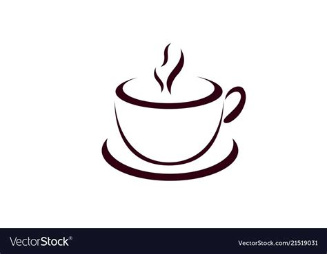 This logo design has 36421 views and is don't forget to get your logo inspiration from all of our logo designs! Coffee cup logo design cafe icon symbol vector image on | Cup logo, Logo design