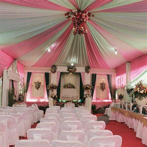 dekorasi pernikahan putih pink latar belakang pernikahan