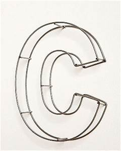 nursery notations new takes on wall letters With wire frame letters