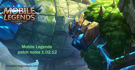 mobile legends patch notes   released mobile