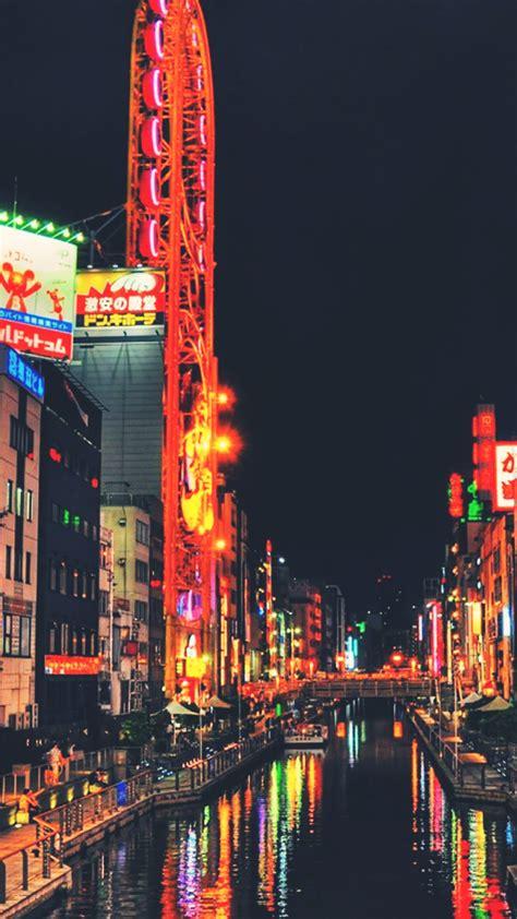 shanghai nightlife city lights android wallpaper