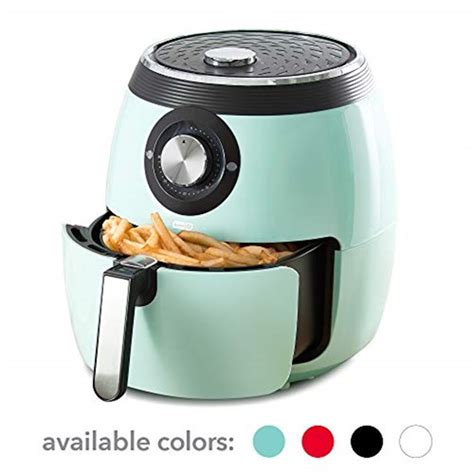 fryer air dash deluxe electric oven cooker aqua turquoise temperature control non turkey fry basket prime which fryers deal carrot