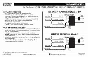 Wiring Instructions 120 Or 277v Tap Connection  12 Or 24v